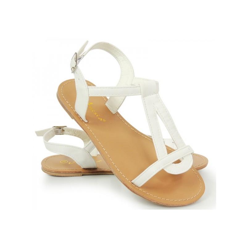 a0db9a14edb7 Letné dámske sandále biele farby - fashionday.eu