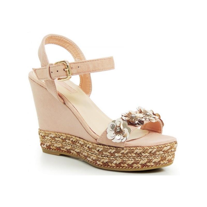 a1b3c27181 Elegantné ružové dámske sandále na platforme - fashionday.eu