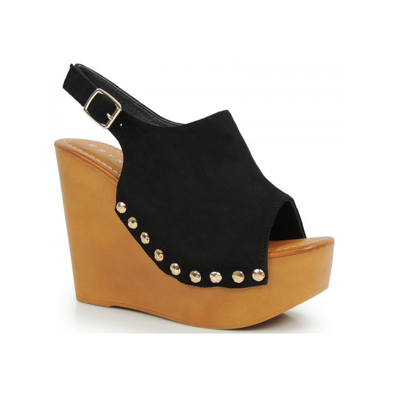 f6edd34169 Čierne dámske sandále na vysokej platforme - fashionday.eu