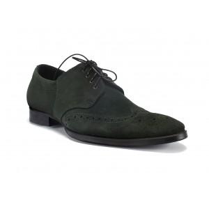 Pánske prešívané kožené topánky zelenej farby COMODO E SANO