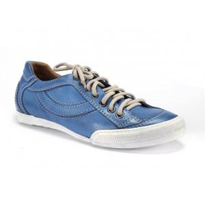 Modré pánske kožené topánky na šnurovanie COMODO E SANO