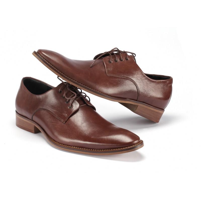 6e1ad54f441 ... pravej kože COMODO E SANO · Hnedé pánske spoločenské topánky ...