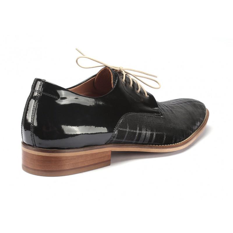 Kožené pánske topánky čiernej farby COMODO E SANO - fashionday.eu bee13839f3f