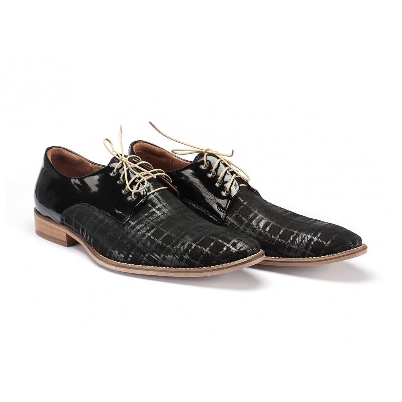 98386a34b3 Kožené pánske topánky čiernej farby COMODO E SANO - fashionday.eu
