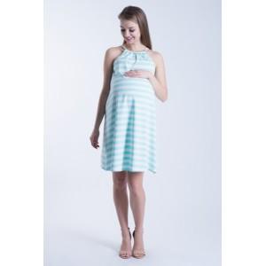 Letné tehotenské šaty modrej farby