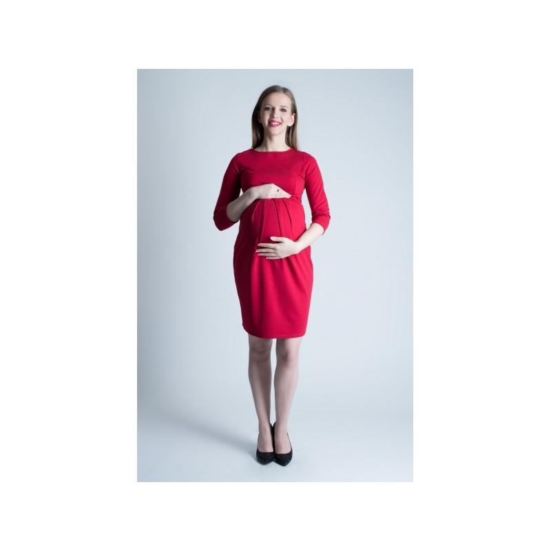 d123eada3 Červené tehotenské šaty na leto - fashionday.eu