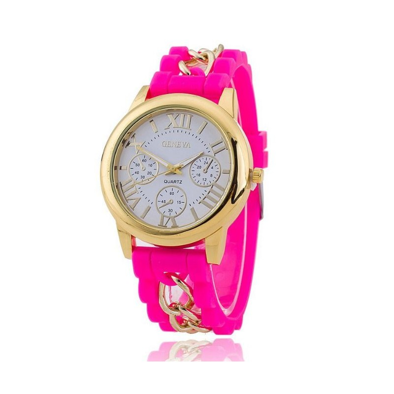 ee75db87f Ružové dámske hodinky so silikónovým remienkom - fashionday.eu