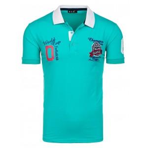 Zelené tričko pre pánov s golierom