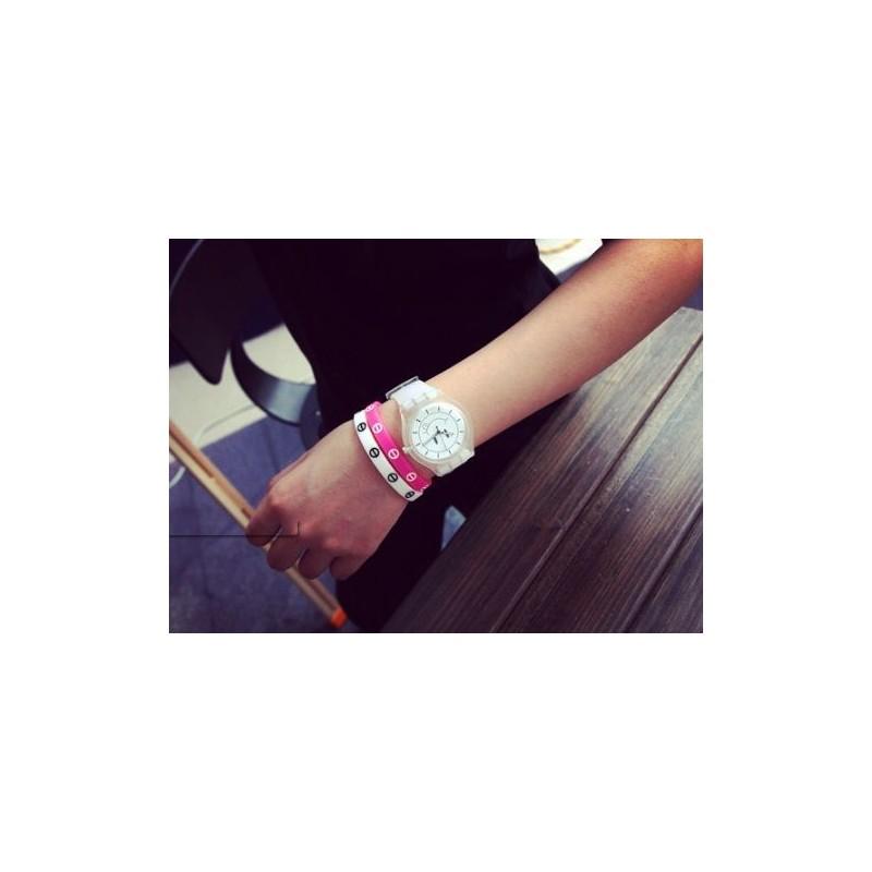Biele silikónové hodinky so smajlíkom - fashionday.eu 2afbad61c87