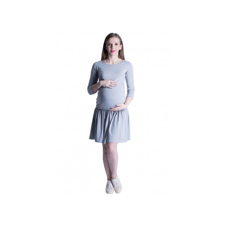 2a011ac49 Pohodlné tehotenské šaty v sivej farbe - fashionday.eu