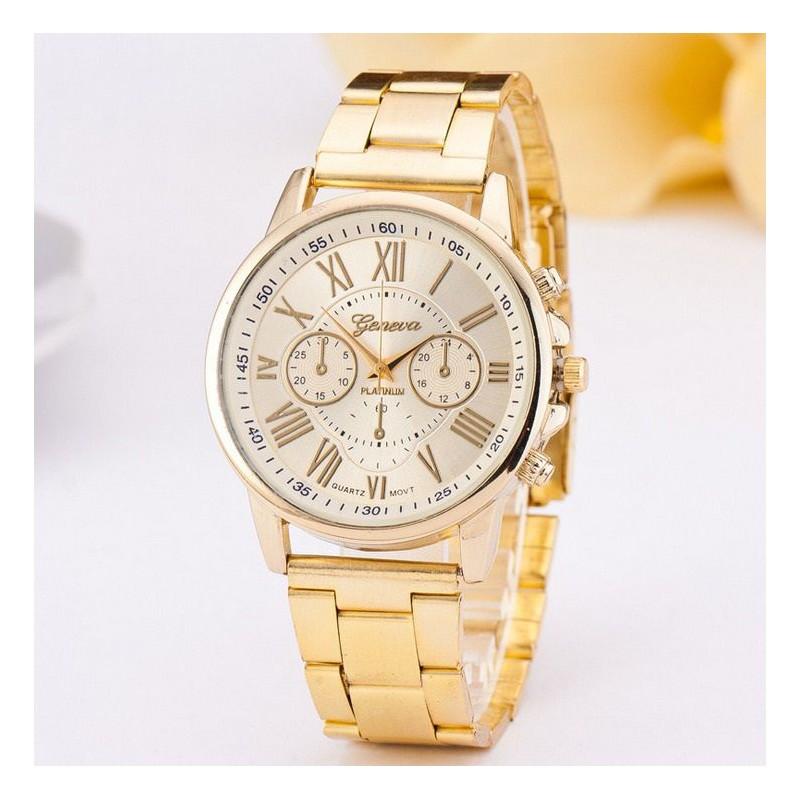 007fca28ad Elegantné dámske hodinky zlaté - fashionday.eu