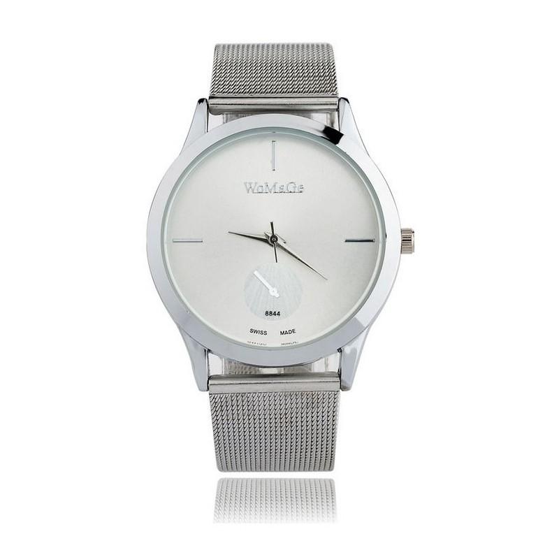 Strieborné dámske hodinky s kovovým remienkom - fashionday.eu 12fea74ac83