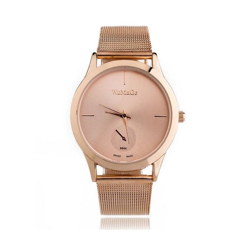 0d9f44bdb Ružové dámske hodinky s kovovým remienkom - fashionday.eu