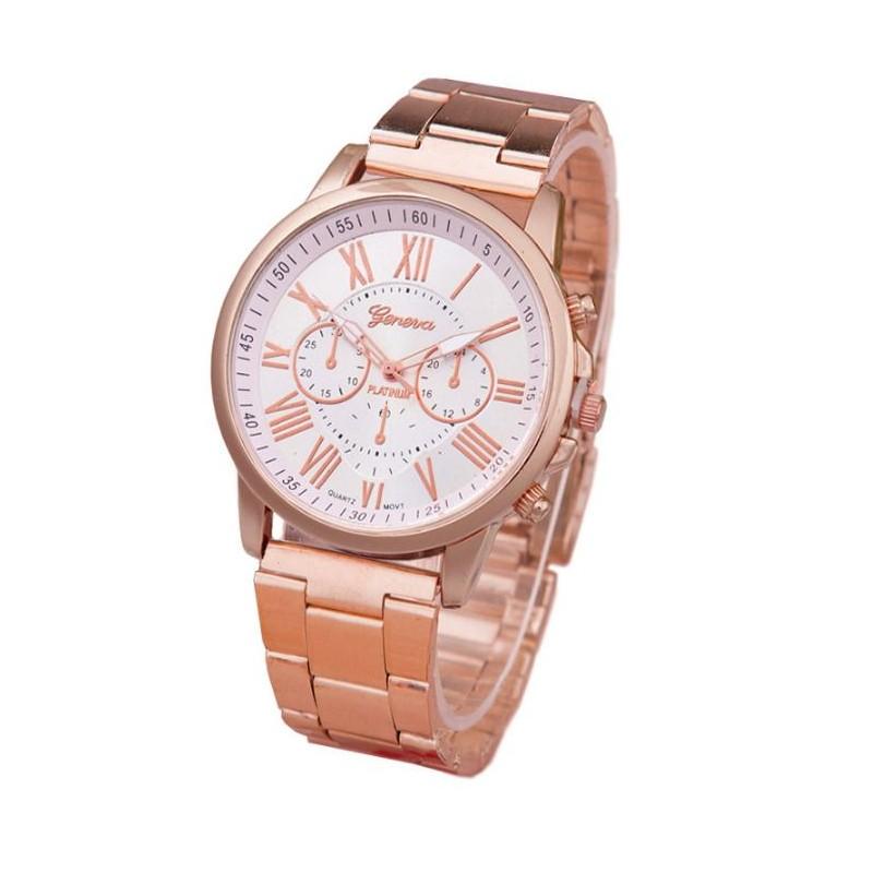 53764375b Elegantné dámske kovové hodinky ružové - fashionday.eu