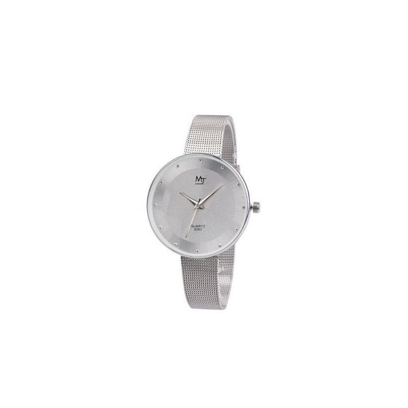 Štýlové dámske kovové hodinky strieborné - fashionday.eu 49abbc46802
