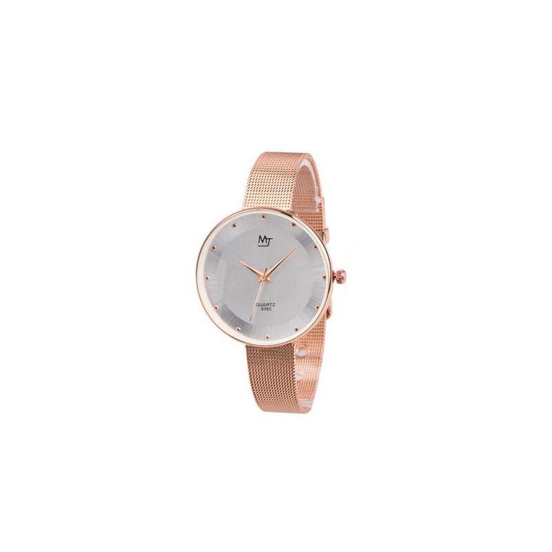 c74907c98 Dámske ružové hodinky s kovovým remienkom - fashionday.eu