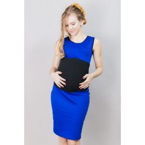 Dlhé tehotenské šaty modrej farby