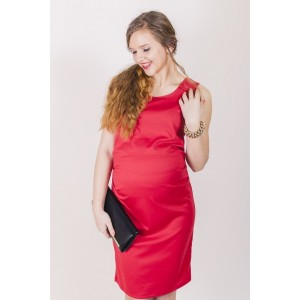 Elegantné tehotenské šaty ružovej farby