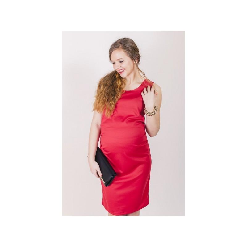 Elegantné tehotenské šaty ružovej farby - fashionday.eu 70e7be49e1d