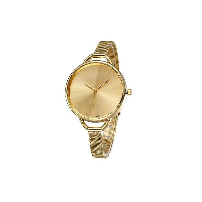 e1e84dc25b Jednoduché dámske hodinky zlaté - fashionday.eu