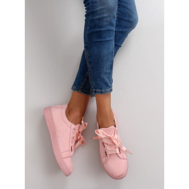 ae1d0cf8cf37 Ružové dámske tenisky s mašľou - fashionday.eu