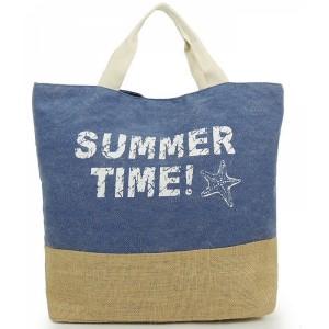 Modré dámske tašky na pláž