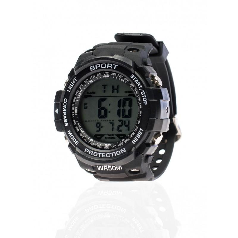 Pánske čierne športové hodinky - fashionday.eu 5b540f96dc9
