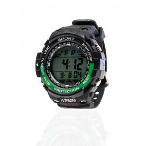 Pánske športové hodinky so zeleným detailom
