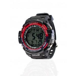 Červené pánske digitálne hodinky športové
