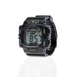Športové pánske hodinky v čiernej farbe