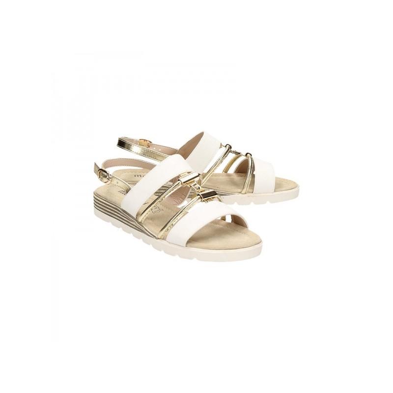 44282954f150 Pohodlné biele dámske sandále na leto - fashionday.eu