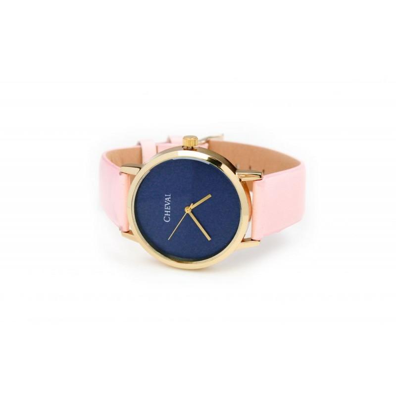 d0f0438ca Ružové dámske hodinky s koženým remienkom - fashionday.eu