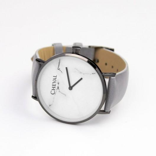 Dámske sivé hodinky s mramorovým vzorom