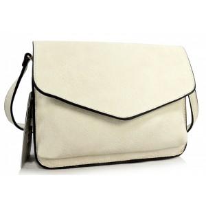 Béžová listová kabelka so zapínaním na zips