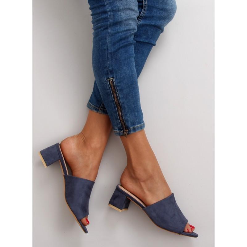 42713890f9 Predchádzajúci. Letné dámske šľapky s otvorenou špičkou v modrej farbe ...