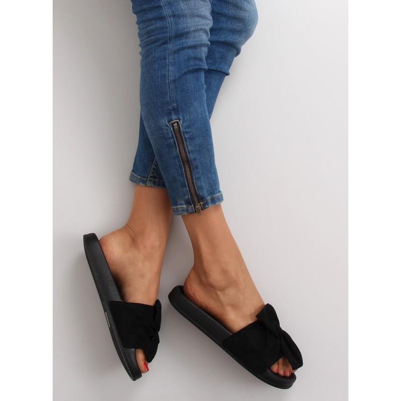 712c3ee9ee0f Čierne dámske semišové šľapky - fashionday.eu