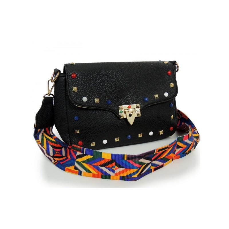 bf256e331a Čierna kabelka crossbody s ramienkom - fashionday.eu