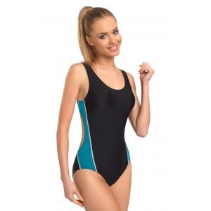 Dámske plavecké plavky čiernej farby