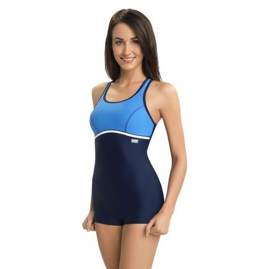 Modré športové celé plavky