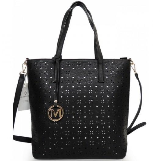 Čierna dámska kabelka cez plece