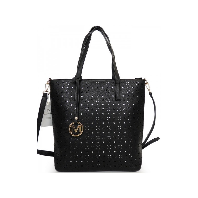 Čierna dámska kabelka cez plece - fashionday.eu f3be99cd8e0