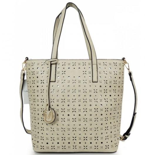 Shopper dámske kabelky v sivej farbe