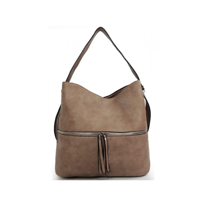Hnedá dámska kabelka cez rameno so strapcom - fashionday.eu c00fce4b446