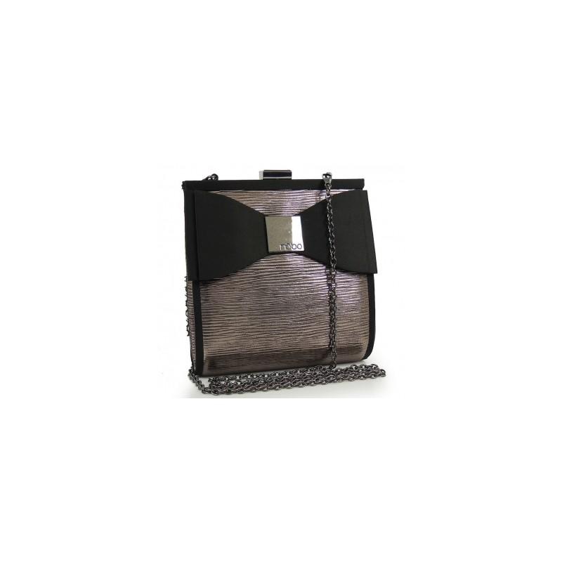 Lesklá večerná kabelka s mašľou - fashionday.eu da672ed4c9c