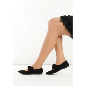 Štýlové čierne dámske balerínky pre dámy