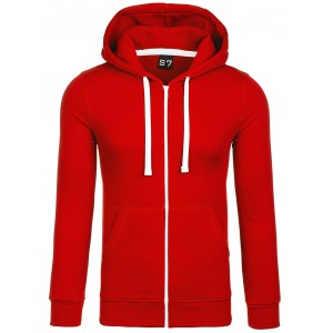Mikina pre pánov s kapucňou v červenej farbe