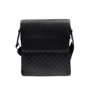 Prešívaná pánska kabelka čiernej farby