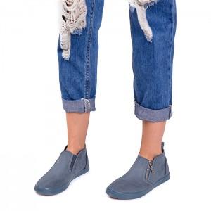 Elegantné dámske topánky modrej farby
