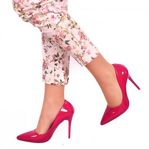 Ružové dámske lodičky na vysokom podpätku
