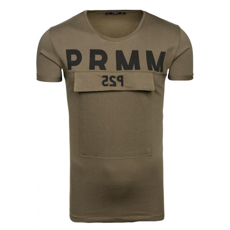 d629e83c20c3 Predchádzajúci. Zelené pánske tričko s nápisom ...